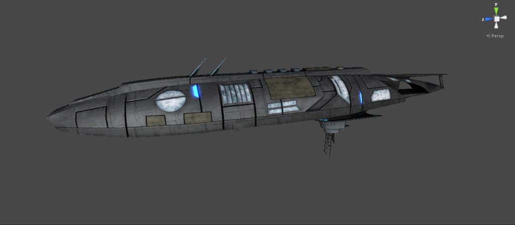 WIP screenshot of a Qomiti missile cruiser. Circa 2645.