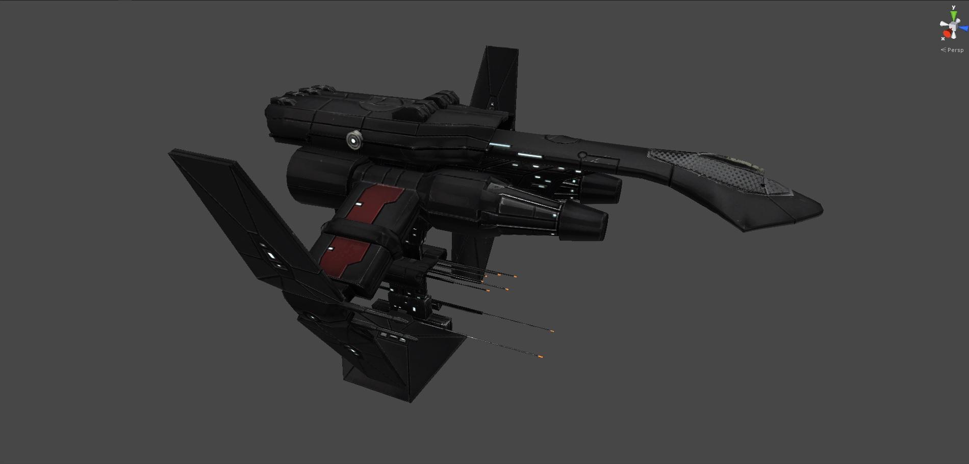 WIP screenshot of a Rift Jump capable starship.