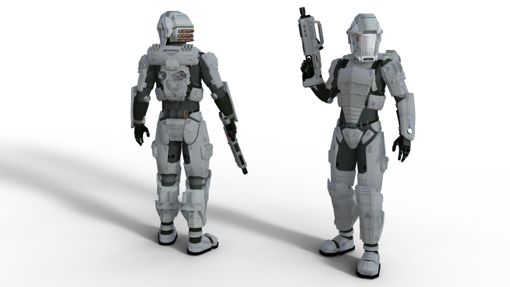 Orbital Jump Trooper in full combat kit.