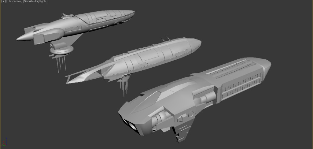 Starship WIPs ready for texturing